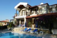 Villa in Turkey, Ovacik: Villa 10 showing terraces and private pool.