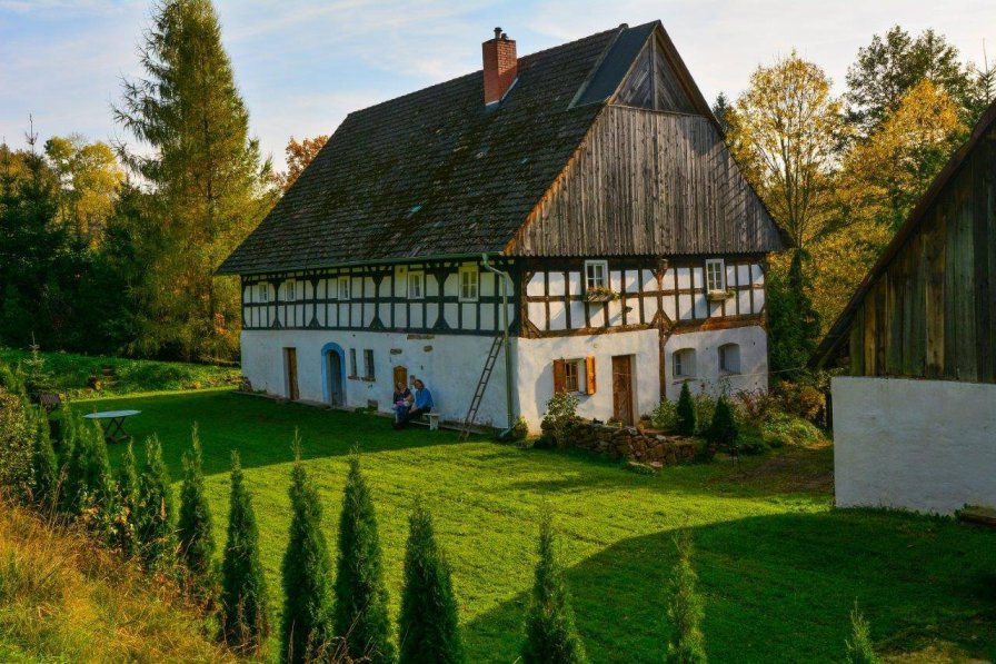 Baker's cottage (farmhouse 1808) Wlen, north of Jelenia Gora