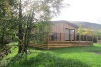 Lodge in United Kingdom, Shropshire: Lime lodge in the Clun valley