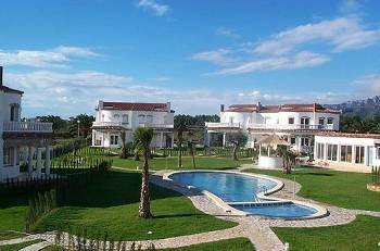 Villa in Spain, Costa Zèfir: Pool and one of the villas (semi-detached house)