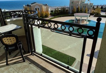 Apartment in Bulgaria, Pomorie: View from apartment balcony