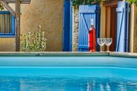 House in France, Minervois: Chilling in the pool with the local rose from the village Cave