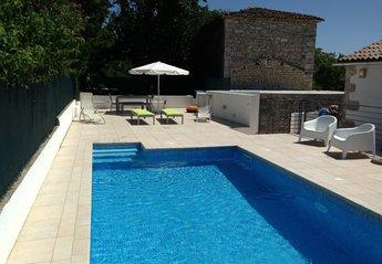 Villa in Croatia, Lozari: Pool & Upper Terrace Area