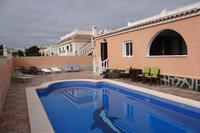 Villa in Spain, Camposol Golf: South facing pool with large sun bathing terrace