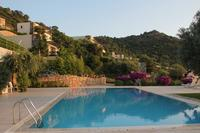Apartment in Turkey, Gumusluk: The closest Pool , three minute walk , apartment  visible  , top le..