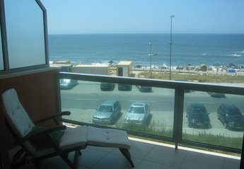 Apartment in Portugal, Vila Nova de Gaia: View from the apartment balcony, to the beach