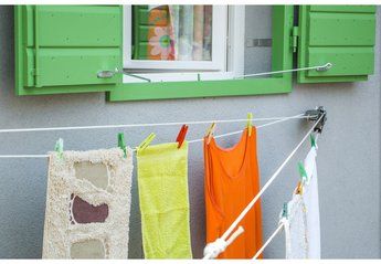 Apartment in Croatia, Town Split: This unique system of clothes drying is called Tiramola
