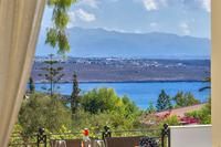 Villa in Greece, Akrotiri: The sea and Mountain view from one of our verantas