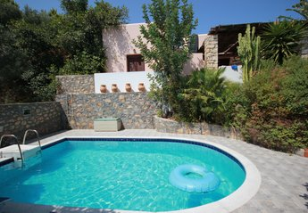 Villa in Greece, Agia Triada: Rear of Villa Francesca and Pool.