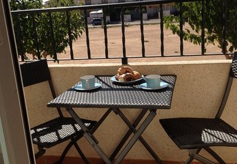 Town House in Spain, Santiago de la Ribera: Breakfast with fresh pastries courtesy of the daily br..