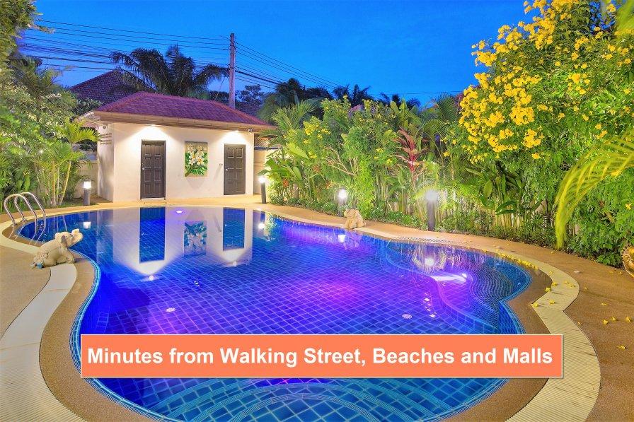 Baan Leelawadee - Luxury Villa & Private Pool to Rent in Pattaya