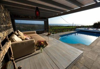 Villa in Spain, Arrieta: Sea View from Pool area