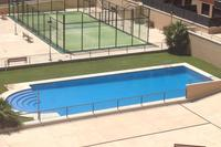 Apartment in Spain, Arroyo de la Encomienda: Pool and Paddle court. Pool open during summer months