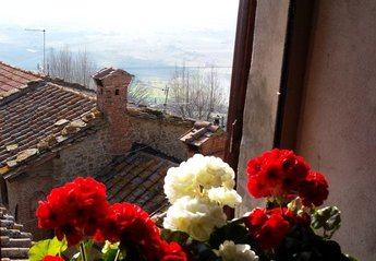 Apartment in Italy, Civitella v d Chiana: View from Sofia Living Room