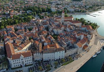 Apartment in Croatia, Old town of Trogir: Trogir view from the sky!!!
