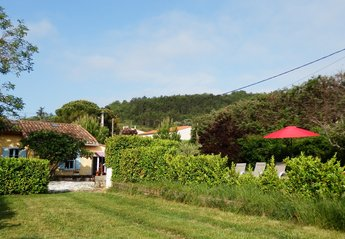 Cottage in France, Quillan: View from the back garden