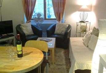 House in France, Pezenas: Cosy lounge with Satellite (English) TV