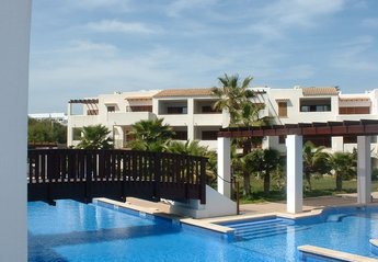 Apartment in Spain, Cala Egos: Apartments large pool with Jacuzzi area, waterfalls and gardens
