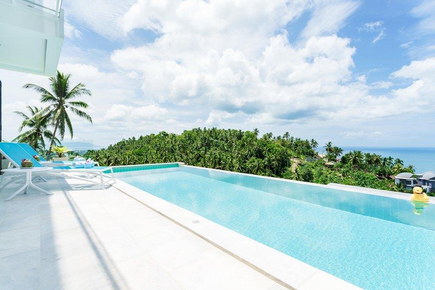 Villa Melo [upper villa] - 3br, sea view, private pool, gym