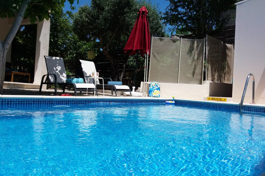 """Owners abroad """"Aria Holiday House"""" with a private swimming Pool in Paphos."""