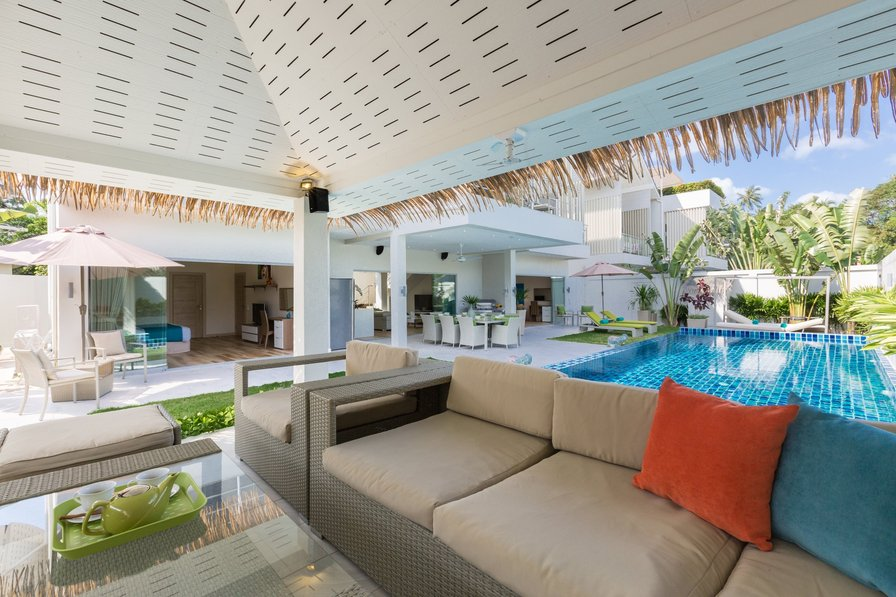 Villa in Thailand, Thailand: Pool Sala at Villa Mojito, a 5 bedroom private villa located near Ban..