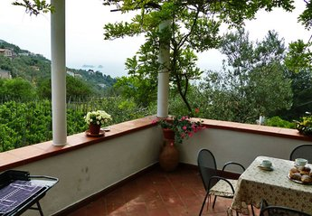 House in Italy, Nerano: 01 Casa Tecla sea view terrace