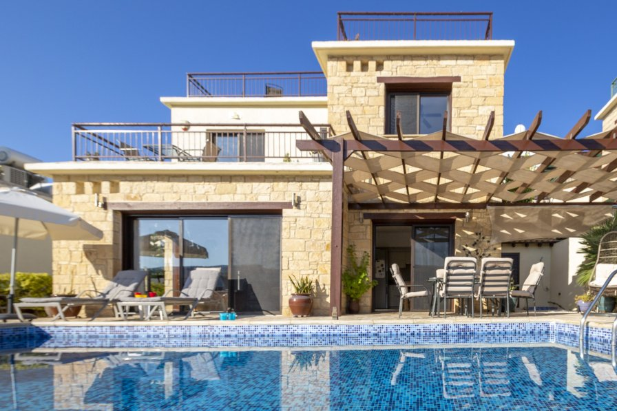 Owners abroad Villa Adara, Stone Built Villa with Infinity Pool in Peyia