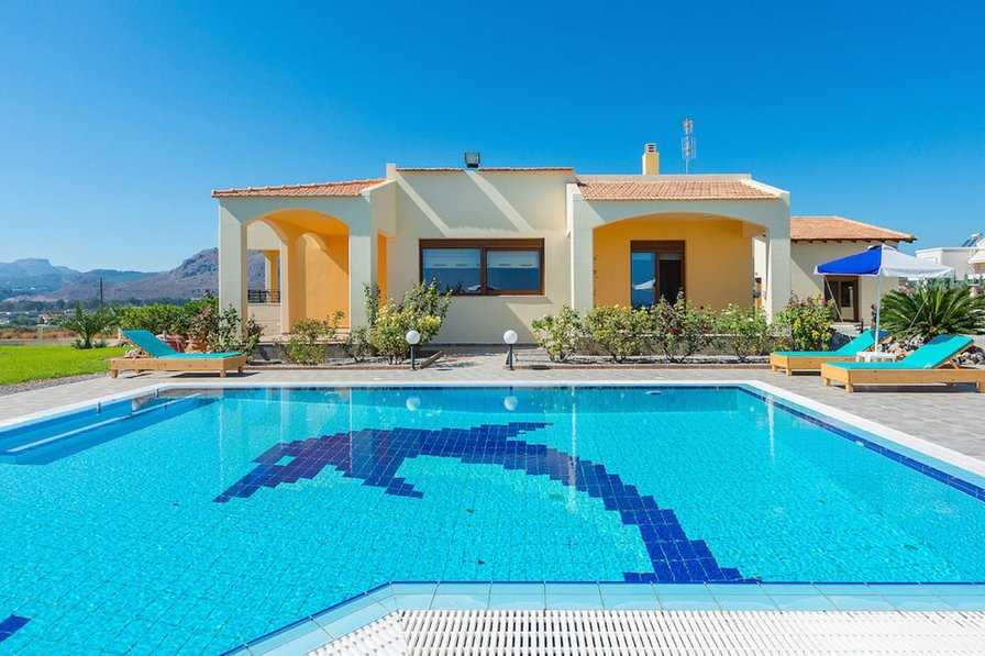 Villa To Rent In Kolymbia Rhodes With Private Pool 189128