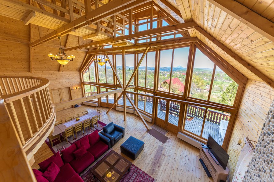 Owners abroad Carpathian Log Home 2