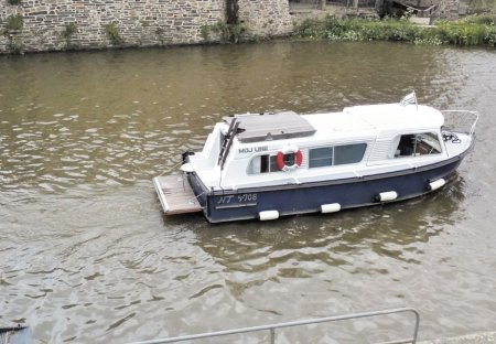 Boat in Guipry-Messac, France