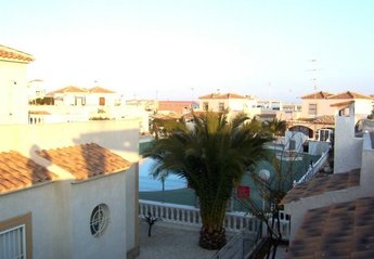 Villa in Spain, Playa Flamenca: View to pool from terrace