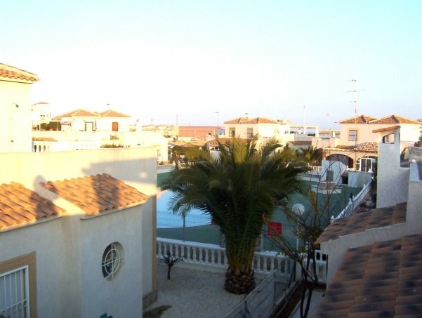 Villa in Spain, Playa Flamenca: View to pool from terrace