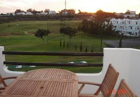 Apartment in Semino, Algarve: Balcony view on to driving range