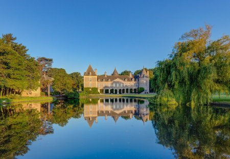 Chateau in Tocqueville, France