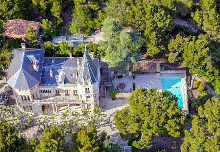 Chateau in Gigondas, the South of France