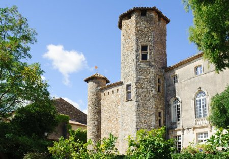Chateau in Cesseras, the South of France