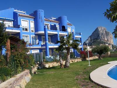 Apartment in Spain, Calpe: View of the grounds and Penon de Ifach