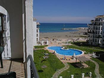 Apartment in Spain, San Luis de Sabinillas: View over beach from balcony