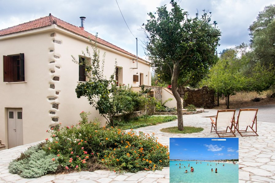 Luxury Venetian style villa close to Milia & Elafonisi beach