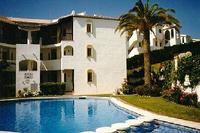 Apartment in Spain, Riviera del Sol: View of apartment from across the pool
