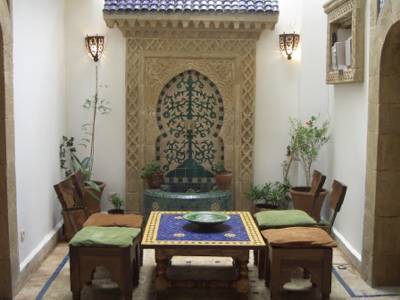House in Morocco, Essaouira: courtyard
