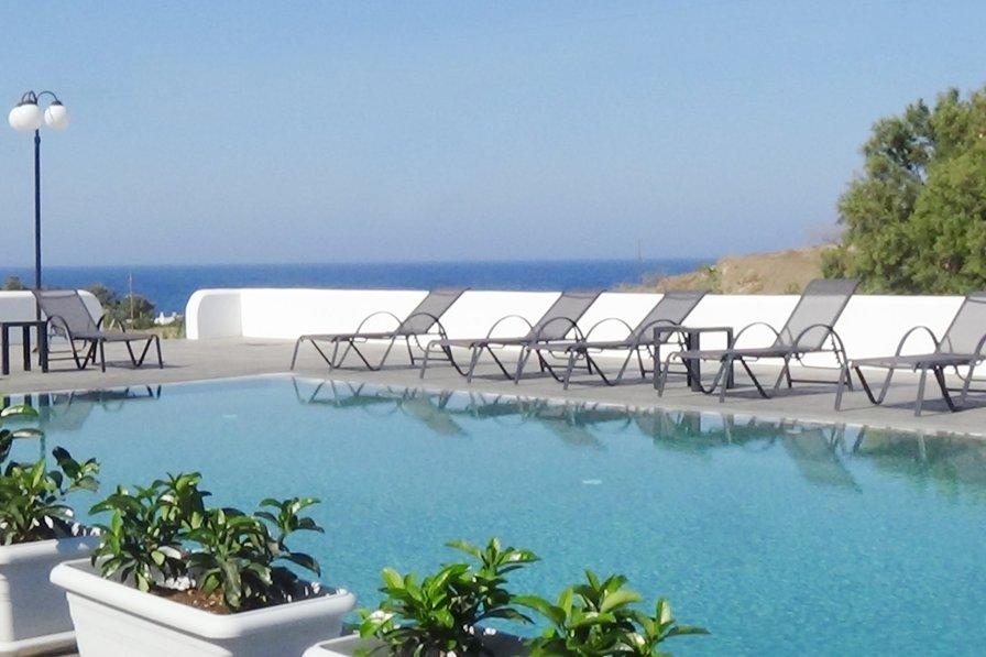 """SEA"" Luxury villa by Santorini sandy beach!"