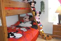 Villa in USA, The Retreat: Disney Bedroom with Double Bottom Bunk, Single Top Bunk
