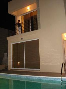 Villa in Cyprus, Protaras: Outside at night
