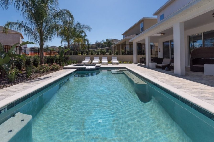 villa to rent in kissimmee florida with private pool 221501. Black Bedroom Furniture Sets. Home Design Ideas