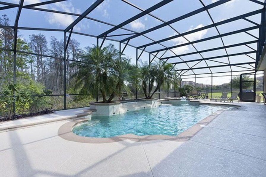 villa to rent in kissimmee florida with swimming pool. Black Bedroom Furniture Sets. Home Design Ideas