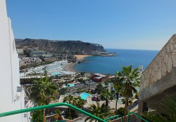 Apartment in Spain, La Playa del Cura: View from front door showing the new beach in Playa Del Cura.