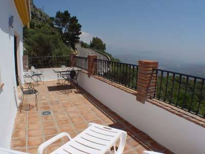 Apartment in Spain, Comares: The balcony