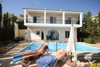 Villa in Cyprus, Coral Hill: 3 Bedroom Villa - Rear View with Sea views from ground and upper floors