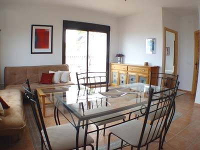 Apartment in Spain, Comares: Sitting Room and Dining Area